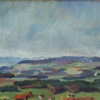 1942-20-K_Petit paysage de Torry_1942-45, 14.5x22_huile sur carton